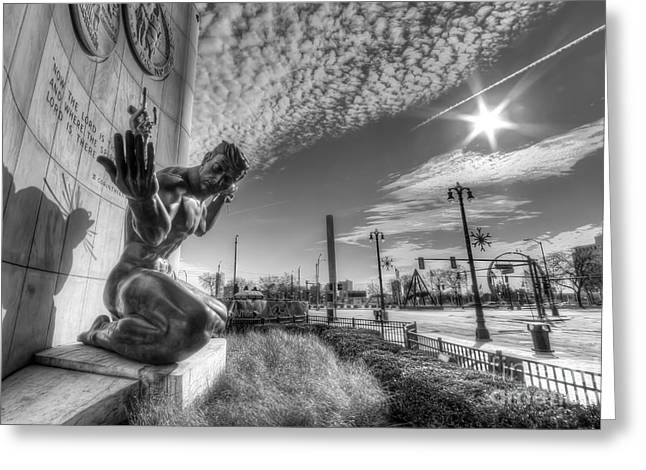 The Spirit Of Detroit Greeting Card by Twenty Two North Photography