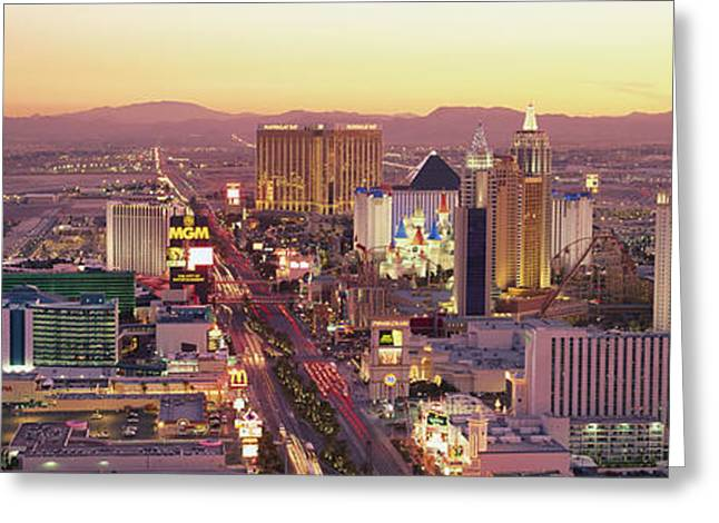 Faint Greeting Cards - The Strip, Las Vegas, Nevada, Usa Greeting Card by Panoramic Images