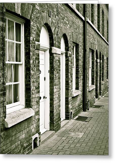 Suffolk Greeting Cards - Town houses Greeting Card by Tom Gowanlock