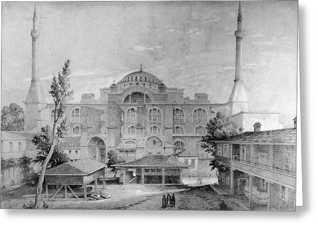 Turkey Hagia Sophia, 1852 Greeting Card by Granger