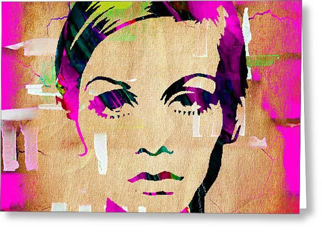 Twiggy Greeting Cards - Twiggy Collection Greeting Card by Marvin Blaine