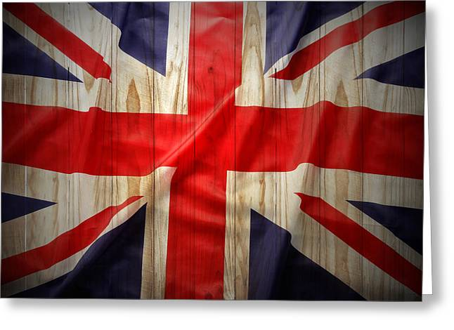 National Symbol Greeting Cards - Union Jack  Greeting Card by Les Cunliffe