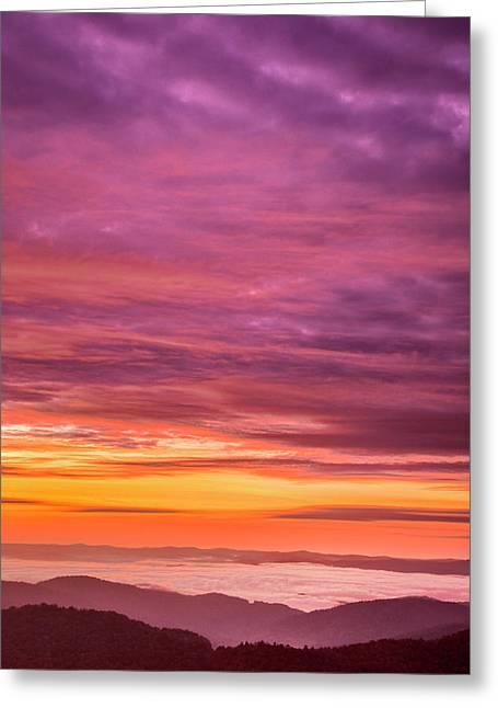 Usa, North Carolina, Brevard Greeting Card by Jaynes Gallery