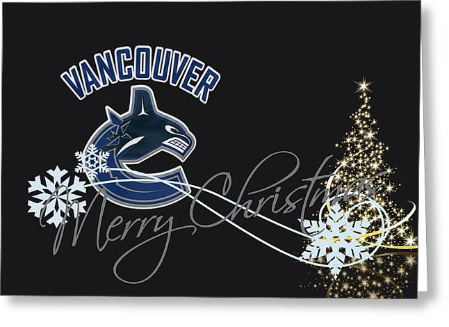 Canucks Greeting Cards - Vancouver Canucks Greeting Card by Joe Hamilton