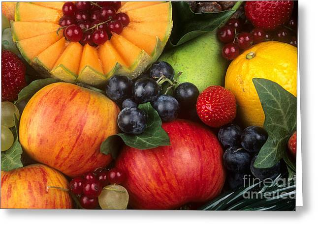 Various Greeting Cards - Variety of fruits. Greeting Card by Bernard Jaubert