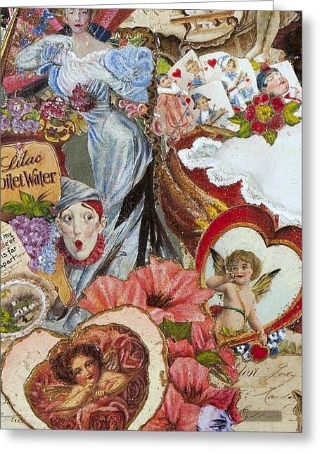 Gloria Mixed Media Greeting Cards - Victorian Romance Greeting Card by Jonell Restivo