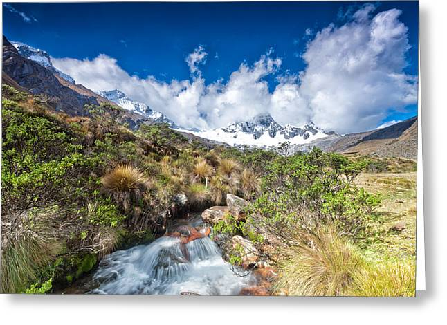 Andean Greeting Cards - View of Paso Punta Union on 4750m Greeting Card by Ulrich Schade