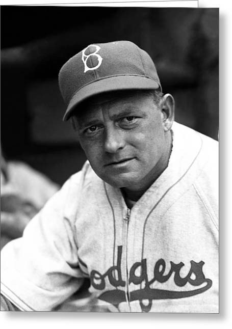 Brooklyn Dodgers Greeting Cards - Waite C. Hoyt Greeting Card by Retro Images Archive