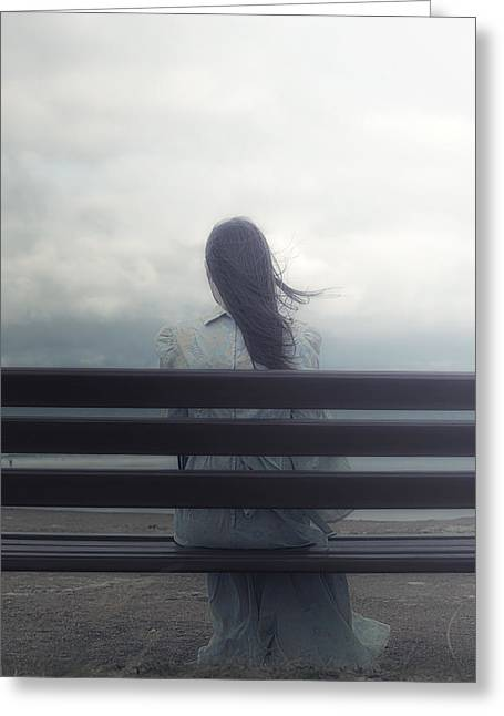 Pensive Greeting Cards - Waiting Greeting Card by Joana Kruse