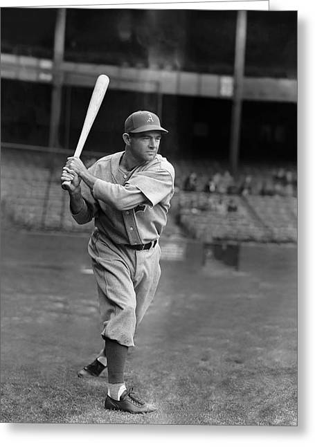 Baseball Bat Greeting Cards - Wallace Wally Moses Greeting Card by Retro Images Archive