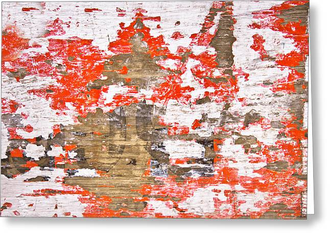 Scruffy Greeting Cards - Weathered wood Greeting Card by Tom Gowanlock