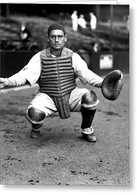 Baseball Equipment Greeting Cards - William C. Cliff Bolton Greeting Card by Retro Images Archive