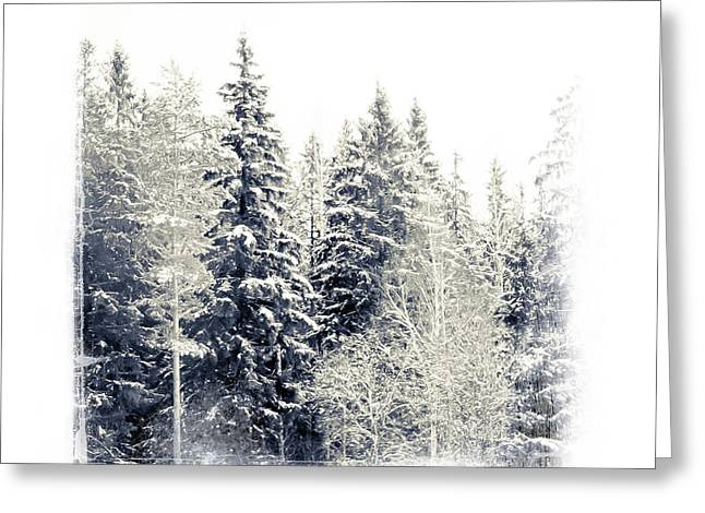 Snow Scene Landscape Greeting Cards - Winter Wonderland. Elegant KnickKnacks from JennyRainbow Greeting Card by Jenny Rainbow