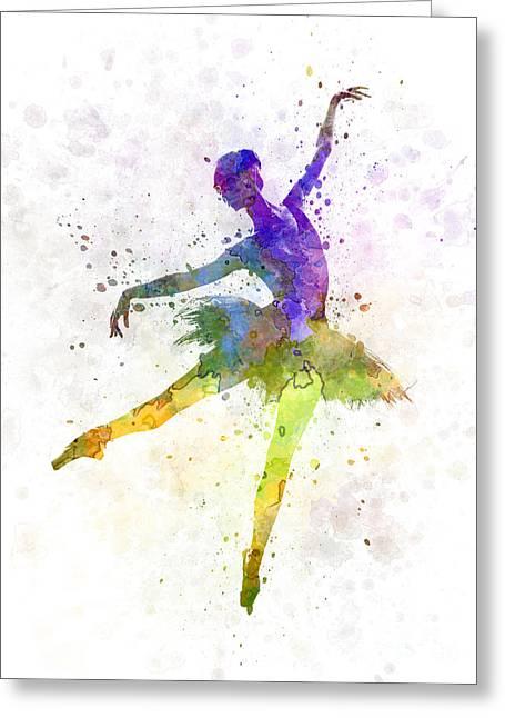Ballet Dancers Paintings Greeting Cards - Woman Ballerina Ballet Dancer Dancing  Greeting Card by Pablo Romero