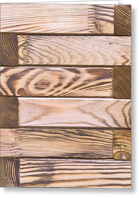 Hardwood Flooring Greeting Cards - Wooden panels Greeting Card by Tom Gowanlock