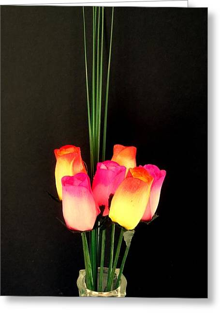 Usa Photographs Greeting Cards - Wooden Roses Greeting Card by Ron Davidson
