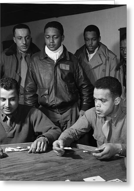 Playing Cards Greeting Cards - Wwii: Tuskegee Airmen, 1945 Greeting Card by Granger