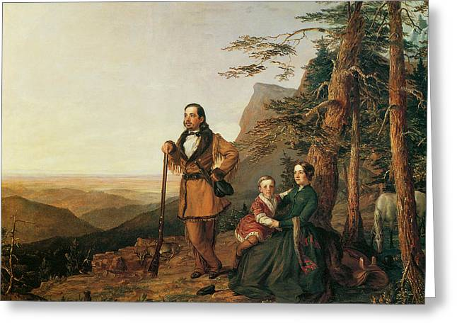 Promised Land Greeting Cards - The Promised Land The Grayson Family Greeting Card by William Smith Jewett