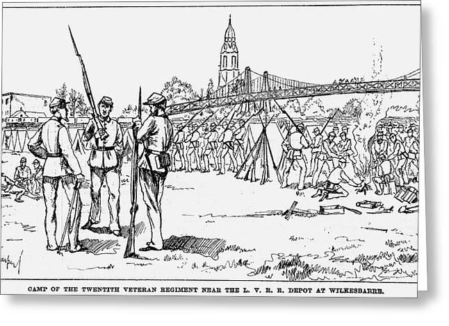 Great Railroad Strike, 1877 Greeting Card by Granger