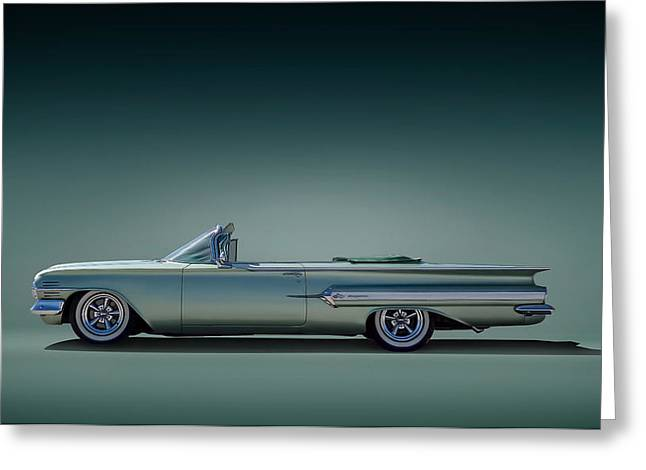 Auto Greeting Cards - 60 Impala Convertible Greeting Card by Douglas Pittman