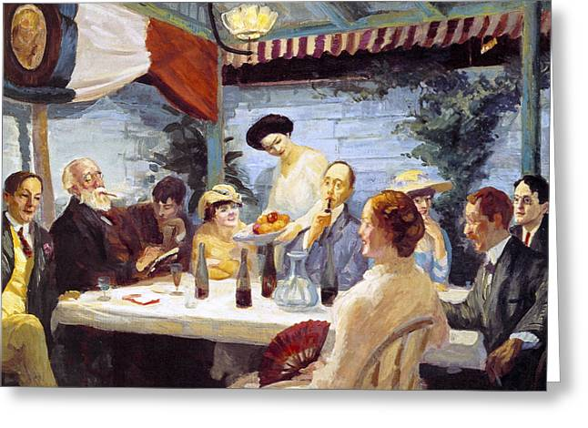 Yeats At Petitpas Greeting Card by John Sloan