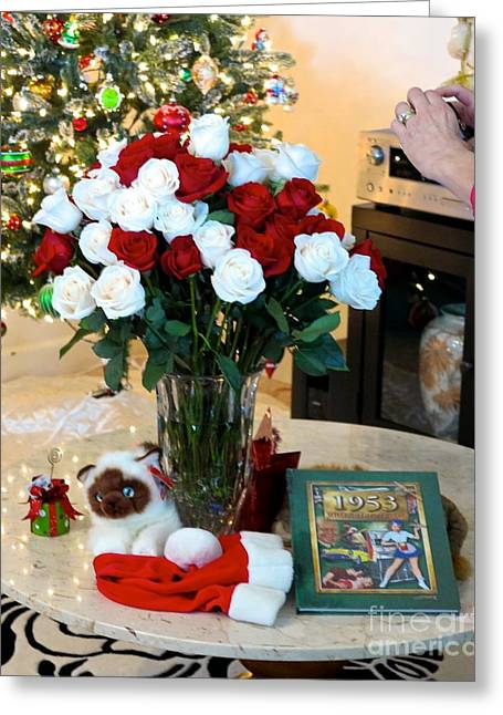 Hands On A Book Greeting Cards - 60 Roses 60 years Greeting Card by Phyllis Kaltenbach