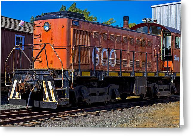 Train Yard Greeting Cards - 600 Train Engine  Greeting Card by Garry Gay
