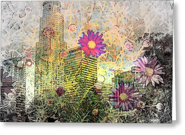 Subtle Colors Greeting Cards - 60s Los Angeles Greeting Card by Jodie Marie Anne Richardson Traugott          aka jm-ART