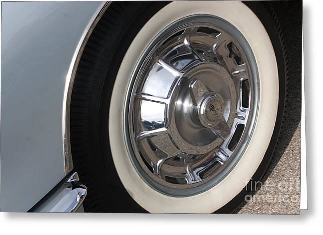 61 Corvette-grey-wheel-9236 Greeting Card by Gary Gingrich Galleries