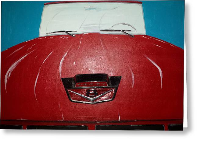 Classic Pickup Mixed Media Greeting Cards - 61 Ford Greeting Card by Phillip Whitehead
