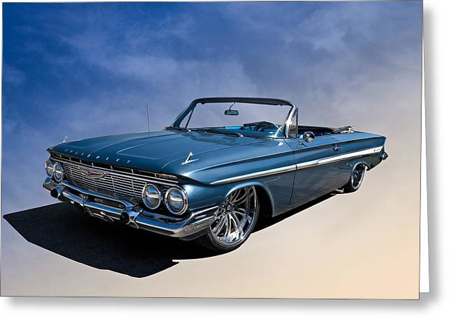 Lowrider Greeting Cards - 61 Impala Greeting Card by Douglas Pittman