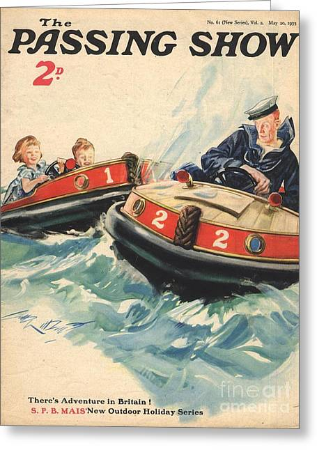 Number Drawings Greeting Cards - 1930s,uk,the Passing Show,magazine Cover Greeting Card by The Advertising Archives