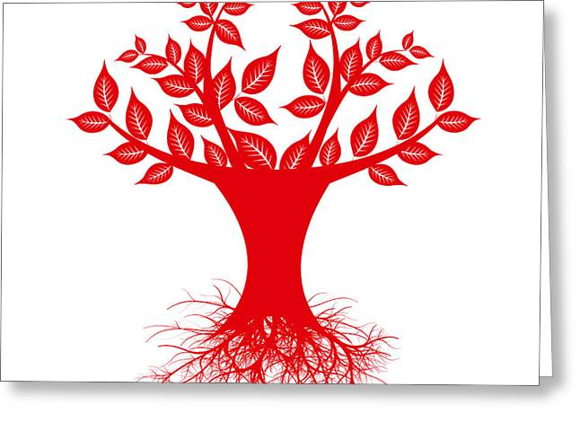 Tree Roots Greeting Cards - Art Tree Greeting Card by IB Photo