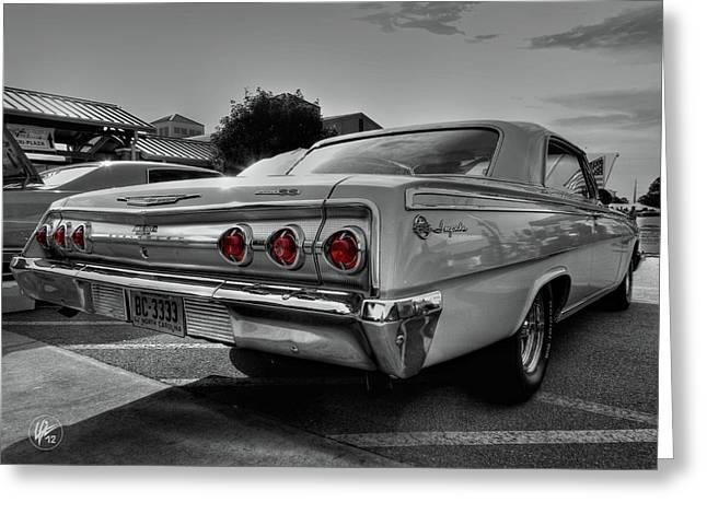 '62 Impala Ss 001 Greeting Card by Lance Vaughn