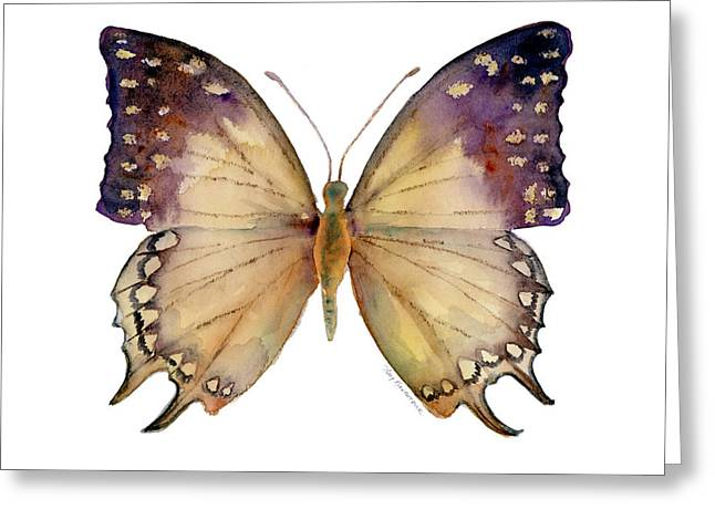 Background Paintings Greeting Cards - 63 Great Nawab Butterfly Greeting Card by Amy Kirkpatrick