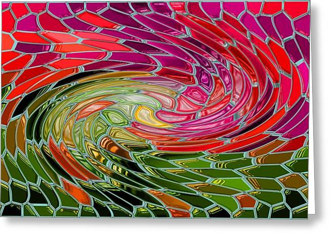 Photo Art Gallery Paintings Greeting Cards - Most Wanted Art AWARD Oil Painting Original Abstract Modern Contemporary House Office Wall Deco  Greeting Card by Emma Lambert