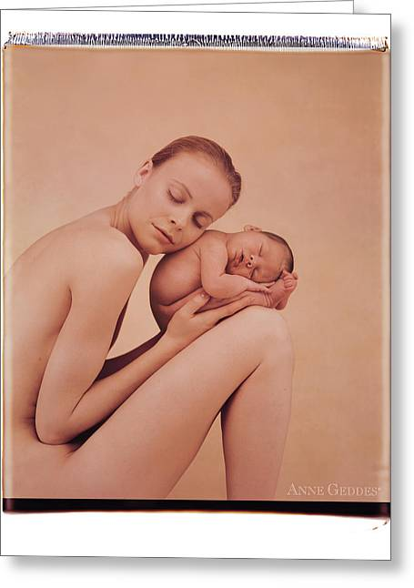 Woman Nude Greeting Cards - Untitled Greeting Card by Anne Geddes