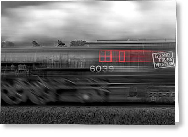 Iron Greeting Cards - 6339 On the Move Panoramic Greeting Card by Mike McGlothlen