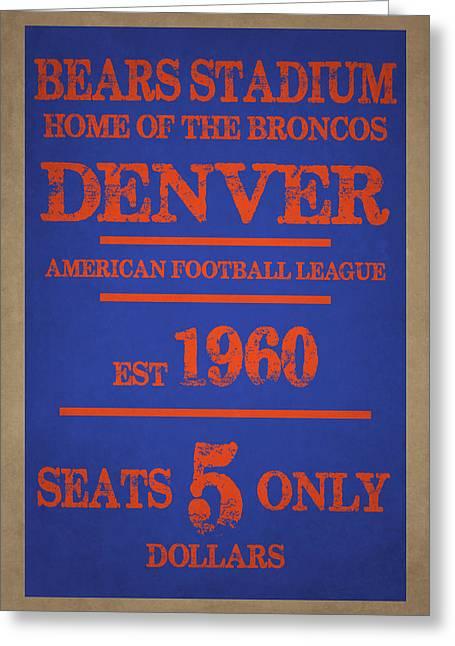 Denver Broncos Greeting Cards - Denver Broncos Greeting Card by Joe Hamilton
