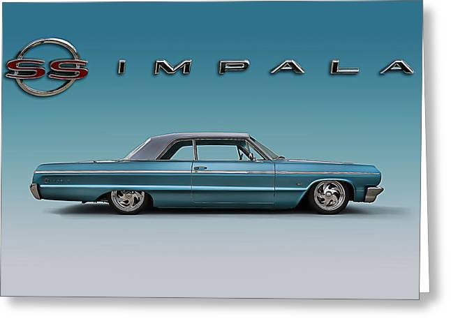 Lowrider Greeting Cards - 64 Impala SS Greeting Card by Douglas Pittman