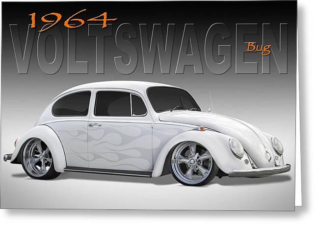 64 Volkswagen Beetle Greeting Card by Mike McGlothlen
