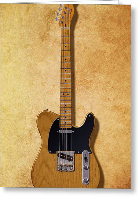 Fender Esquire Greeting Cards - 64 Years of Telecaster Greeting Card by WB Johnston
