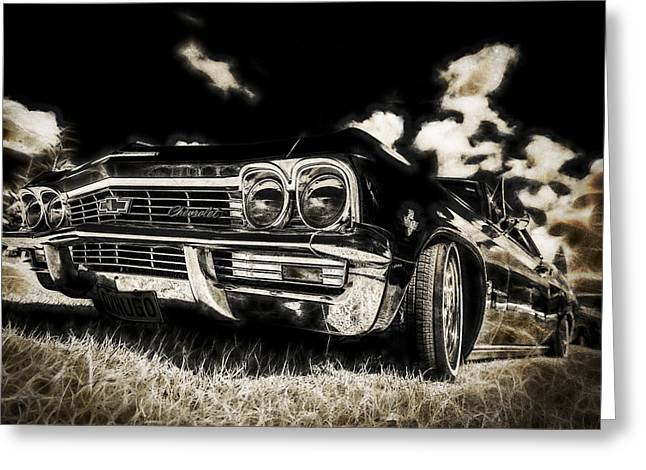 Phil Motography Clark Greeting Cards - 65 Chev Impala Greeting Card by motography aka Phil Clark