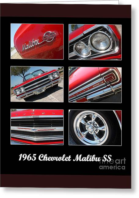 65 Malibu Ss Poster Greeting Card by Gary Gingrich Galleries