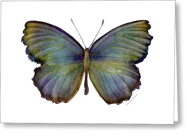 Background Paintings Greeting Cards - 65 Moonglow Butterfly Greeting Card by Amy Kirkpatrick