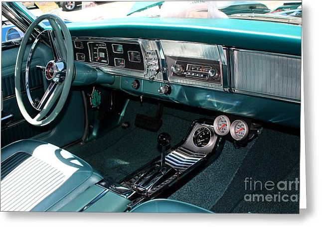 Gingrich Photo Greeting Cards - 65 Plymouth Satellite Interior-8499 Greeting Card by Gary Gingrich Galleries