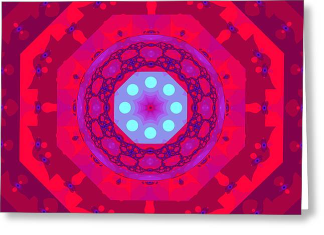 Lacy Fractal Greeting Cards - The kaleidoscope Greeting Card by Odon Czintos
