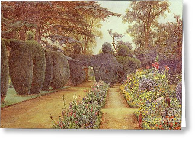 Victorian Aesthetic Greeting Cards - Victorian art piece Greeting Card by Indian Summer