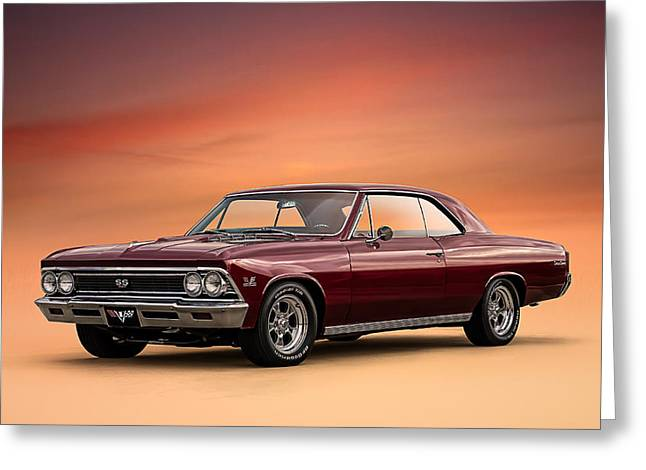 Vintage Greeting Cards - 66 Chevelle Greeting Card by Douglas Pittman