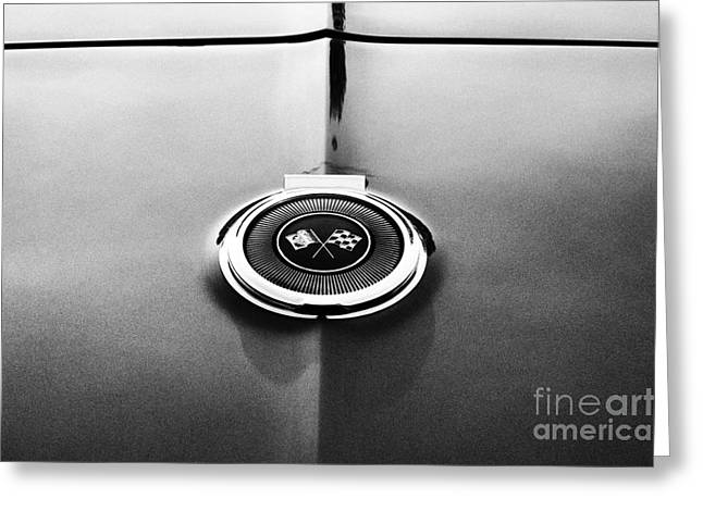 Chevrolet Trunk Greeting Cards - 66 Corvette Gas Cap  Greeting Card by Tim Gainey